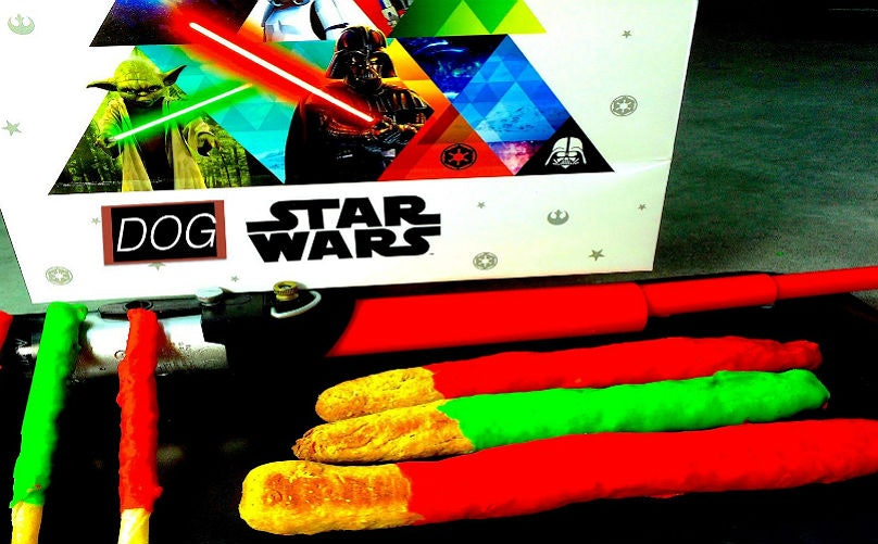 Get Your Pup Into The Star Wars Spirit With These DIY Lightsaber Dog Treats