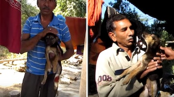 Reunion Between Man And Puppy Has A Surprise Twist That Will Take Your Breath Away